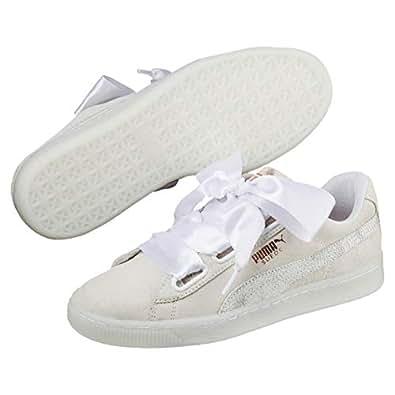 Puma 彪马女式麂皮心形 Artica WN's 低帮运动鞋 White (Puma White) 4 UK