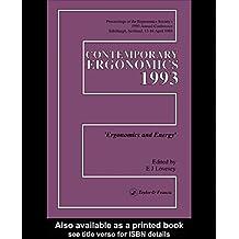 Contemporary Ergonomics (English Edition)