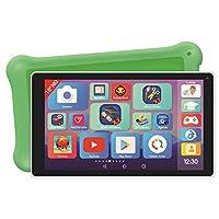 Lexibook MFC514DE 豪华 10 英寸儿童平板电脑 带学习应用程序 玩耍 儿童*保护套 Android,Wi-Fi,蓝牙,Google Play,YouTube,白色 / *