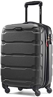 Samsonite 新秀麗 Omni Pc Hardside 可擴展行李箱,帶萬向輪,黑色,Carry-On 20-Inch