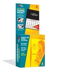 MagnaCard 名片日历磁铁,12 个月日历,白色/黑色,6 个每盒 (MCC2)