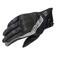 Komine 摩托車用防護網眼手套 CE規格護具 滑條 透氣 春季 夏季 06-237 GK-237 L 黑色 GK-237