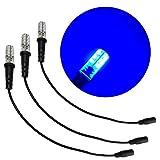 3 条装蓝色特殊效果 LED 12 伏直流 带泡沫木安装电缆套筒 DC 桶连接器适用于主题环境道具戏剧风景水彩虹 水主题 照明