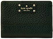 Kate Spade Bay Street Tellie 小號皮革雙折錢包,黑色