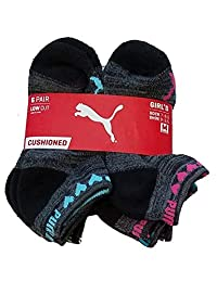 Puma 小女孩 6 双装加垫低帮运动袜