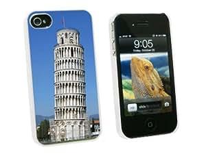 Pisa Graphics and More Leaning Tower - 意大利 - 卡扣式硬质保护壳,适用于 Apple iPhone 4 4S - 白色 - 便携壳 - 非零售包装 - 白色