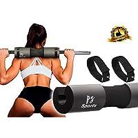 杠铃垫适用于杠铃,配有 2 条*带 - 臀部推力垫,适用于举重、臀部推力、方形和耳钉