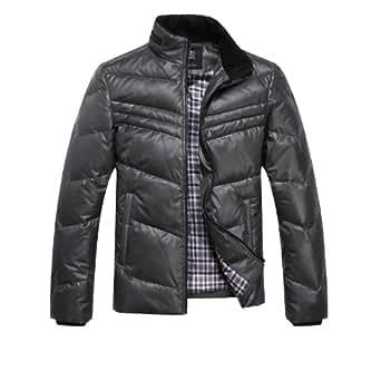 311 男式装羽绒服男正品 2013大码韩版短款修身男士外套 太空灰(有螺纹袖口) 170/88A(M)