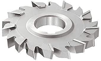 "KEO Milling 03771 交错齿 T15 Supreme 侧铣刀,""NS""风格,13/32""宽度,1-1/4""轴孔,22 齿,4""切割直径,HSCO,TiN 涂层"