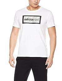 adidas NEO 阿迪达斯运动生活 男式 NEO 短袖上衣 CV9282 白/白 M CS TSHIRT