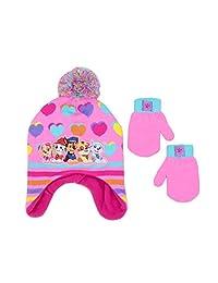 Nickelodeon 女童狗狗巡逻队冬季帽子和手套套装