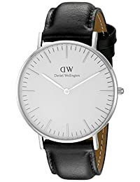 Daniel Wellington 丹尼尔•惠灵顿 瑞典品牌 Classic系列 银色表圈表扣 石英手表 女士腕表 DW00100053(原型号0608DW)