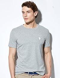 【美国大牌清仓】 买2件减20元 U.S. POLO男士圆领T恤 薄款短袖男 简约休闲T恤男上衣