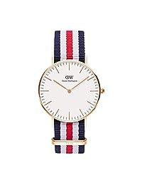 Daniel Wellington 丹尼尔惠灵顿 Canterbury 经典款手表,white, white/multicolour,36毫米