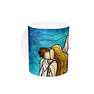 "Kess InHouse Mandie Manzano""In The arms of The Angel""陶瓷咖啡杯,312.54 毫升,多色"