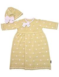 Anna Nicola 防紫外线 夏季针织 新生儿礼服套装 AN-35 E60 日本制造 米色