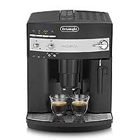 DeLonghi 德龙magnifica ESAM3000.B 全自动咖啡机(控制面板与触摸键,起奶泡,圆锥形研磨机13种研磨程度,可移动冲煮,2-杯功能)黑色