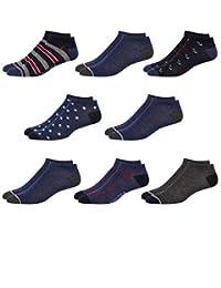 Nautica 男士平针织舒适运动低帮袜(8 双装)