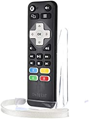 Anderic Xbox One Media Remote Control with Learning - 标准 IR Xbox Remote 带 A,B,X,Y 按钮 - 适用于 Xbox One, Xbox One S, Xbox One X