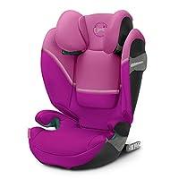 Cybex Gold Solution S i-Fix 儿童汽车座椅,经测试的新款UN 129/03标准,2/3组(15-36公斤),适合约 3至 12岁的人群,木兰粉红色