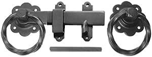 批量硬件 BH51041 扭环门锁,150 毫米 - 黑色 1 件装