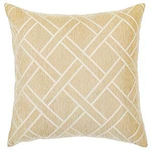 "DECOMALL 超柔软几何装饰方形抱枕套靠垫套 Ivory-hav01 26""x26"""