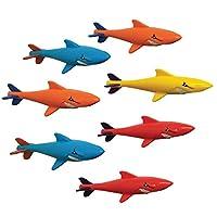 Prime Time Toys 鲨鱼潜水大师 7 件装水下滑翔机 - 泳池潜水玩具 - 各种颜色