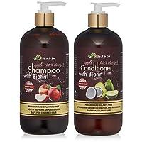 蘋果醋和生物素洗發水和護發素 | 加入蘆薈汁、摩洛哥堅果油和鋸棕櫚提取物 | 平衡 pH、條件、增強和保濕*和去除