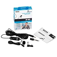 Boya Omnidirectional Lavalier Condenser Microphone with 20ft Audio Cable- for DSLRs Camcorders Video Cameras and iPhone Samsung HTC Smart Phone