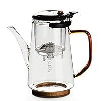 尚言坊 飘逸杯耐热玻璃过滤泡茶壶防爆裂茶杯冲茶器SDP447-1(供应商直送)