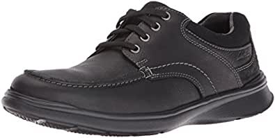 Clarks 男士 Cotrell Edge 牛津鞋 Black Oily,7 M US