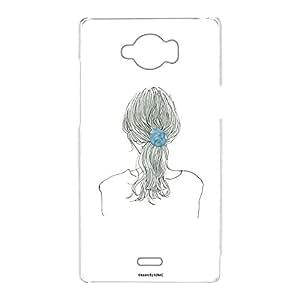 卡丽 壳 透明 TPU 印刷 女孩 马尾 智能手机壳 对应全部机型 女の子ポニーテールC 4_ AQUOS ZETA SH-01G
