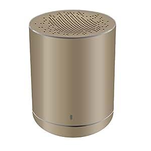 德国Leicke 金属无线蓝牙音箱 小钢炮蓝牙4.2音箱 迷你蓝牙便携户外小音箱 重低音无线手机电脑音响收音功能 内置NFC芯片小体积重低音 大容量锂电池 续航8小时 (香槟金)