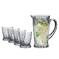 Riedel 5515/23 S1 冷饮水壶和玻璃杯,10 盎司,透明