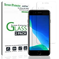 iPhone 6S 屏幕保护膜,适用于 iPhone 6 的光钢化玻璃屏幕保护膜,苹果 iPhone 6、iPhone 6S 2015(2 件装)