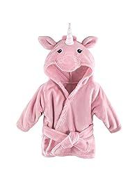 Hudson Baby 宝宝动物毛绒浴袍 Pink Unicorn 0-9 个月