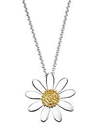 Daisy 英国品牌 复古925银小雏菊项链女生日礼物锁骨链明星同款花朵吊坠 N4004
