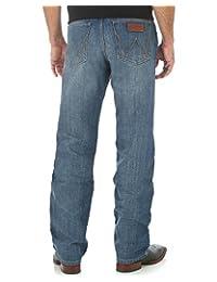 WRANGLER 男式复古宽松直筒牛仔裤