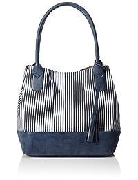 TOM TAILOR 女式 时尚手提包 MARINA 蓝色 43x17.5x28cm