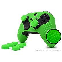 ElitePro 系列 2 抓握镶钉皮肤套装适用于 Xbox One Elite 系列 2 控制器,Foamy Lizard 出品,无汗硅胶皮肤,带扁平防滑钉和 8 个 QSX-Elite 拇指握套