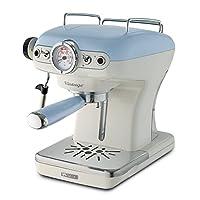 Ariete 过滤器支架 意式特浓咖啡机 复古 带奶沫喷嘴 淡蓝色
