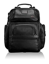 TUMI Alpha2系列 中性 T-pass经典款真皮简约背包 096578D2 黑色 30.5*20.5*42cm