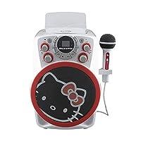Hello Kitty 蓝牙 CDG 卡拉OK机 带 LED 迪斯科派对灯,内置麦克风,便携式蓝牙音箱,AVC,CDG 磁盘,兼容三星 Apple 平板 MP3 和电视