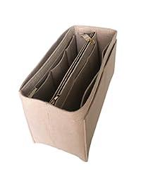 [适合 Neverfull Speedy] JennyKrafts 钱包插入物(3 毫米毛毡,可拆卸袋带金属金色拉链),手提包收纳口袋