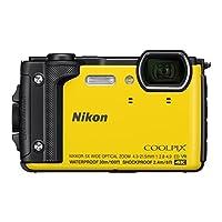 ' Nikon vqa072 K001 – 紧凑 W 300数码相机 ( 16 MP , LCD - 3 , 视频4 K 全高清 , 技术 AF ) 黄色 – Kit 假日带背包防水