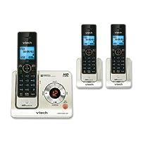 VTech LS6405 辅助听筒,适用于 VTech LS6425 和 LS6475 3 个手机套 均码 银色/黑色