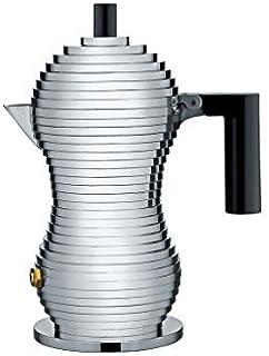 Alessi 铝制咖啡壶,8.3 x 10.5 x 35cm,黑色