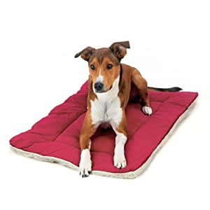 Pet Dreams Classic Sleep-eez Dog Bed Reversible 48 by 30-Inch Pet Bed, XX-Large, Burgundy