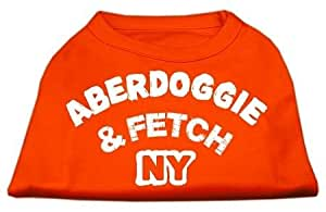 Mirage Pet Products 8 英寸阿伯多犬纽约丝网印花衬衫,XS 码 橙色 XS