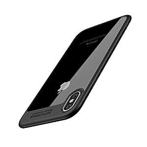 HC&ABELE iPhone X 手机壳,iPhone 10 手机壳,超薄手机壳,简约时尚*保护,减震背面-透明保护,适用于 iPhone X 黑色